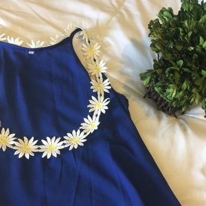 Dresses & Skirts - Royal Blue Daisy Mini Dress/Tunic